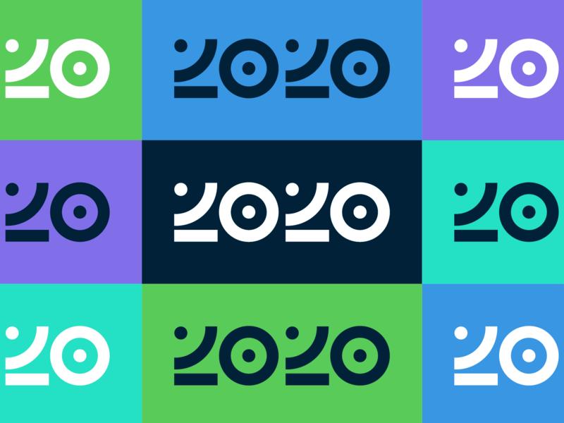 2020 design layout bold color type bullseye typography event branding system design system branding and identity identity branding branding logo design geometric logo identity 2020