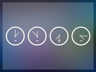 Clocks web design clocks icons