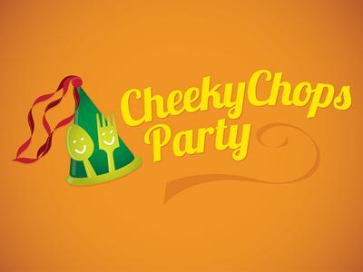 Cheeky chops party logo icon food hospitality kids
