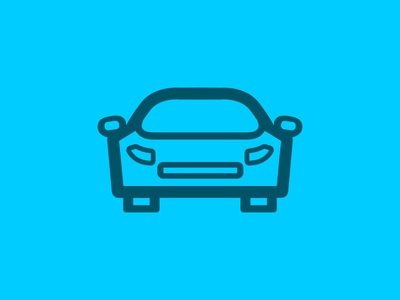 Minimal Sports Car minimal symbol car automotive icon