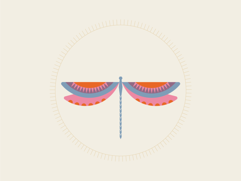 Dragonfly vector illustration dragonfly illustrator geometric art geometric illustration design