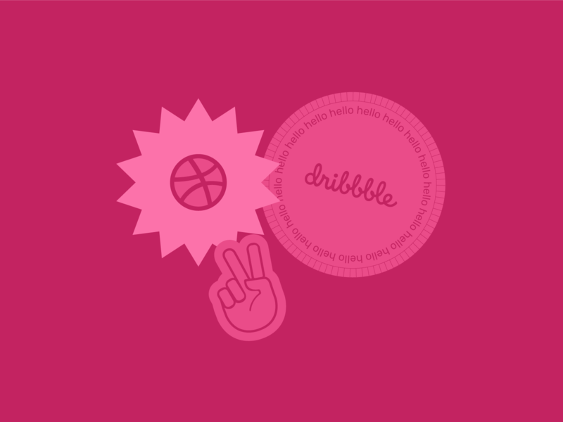 Hello Dribbble! dribbble cool graphic design graphicdesign sticker hello dribbble hellodribbble