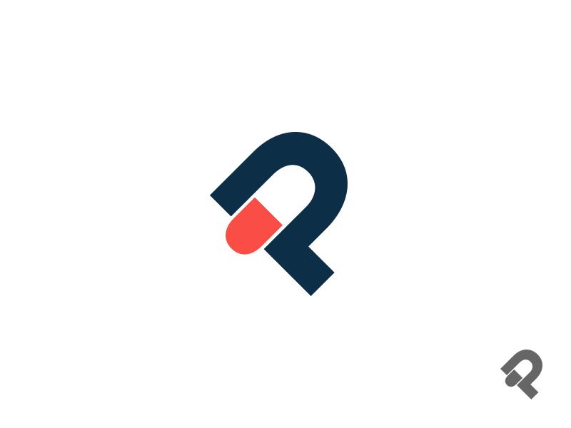 Pharmaceutical company logo corporate red pill brand branding identity logo letter drugs pills pharmacy nuion