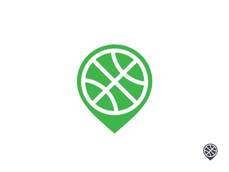 Sport Logo pin field basket basketball football soccer green logo design logo sport