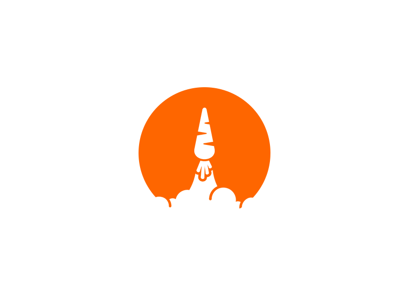 The Future of Food sustainable future food orange science startup rocket carrot logo icon