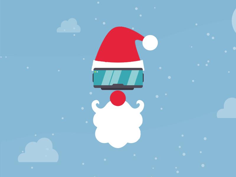 VR Santa illustration beard glasses snow carol vr virtual reality christmas santa