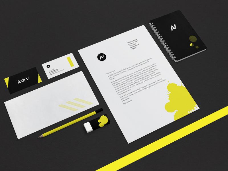 Ash V 2020 stationery set indentity mockup logo branding design