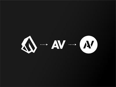 Ash V logo evolution identity logo branding design