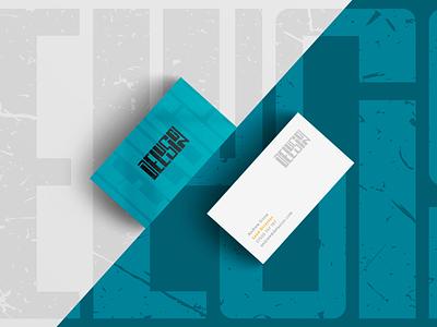 Delusion - business card mockup car collective automotive logo logo branding design