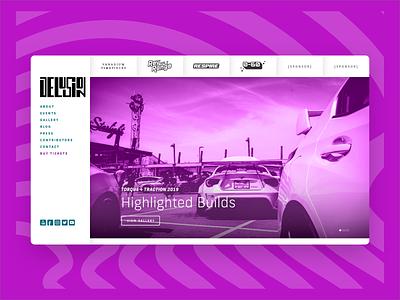 Delusion desktop design identity car show automotive web design ui landing page landingpage website branding