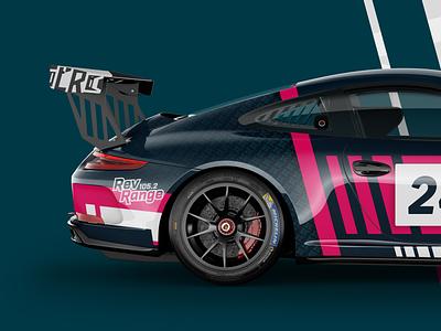 Lateral Racing - Porsche Cup Livery cup car porsche racing team motorsport livery design race car branding design