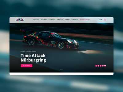 Lateral Racing Desktop landing page porsche web design racing team motorsport brand identity ui logo branding design