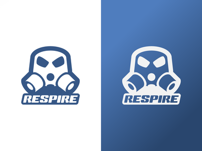 Respire - Logo vector brand identity intake gasmask breathing cars modification aftermarket icon automotive motorsport logo branding design