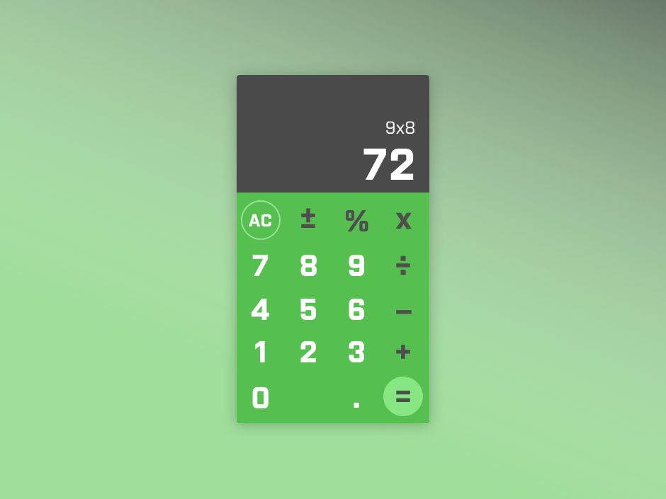 Daily UI 004 – Calculator design maths clean daily ui 004 ui  ux design calculator