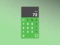 Daily UI 004 – Calculator