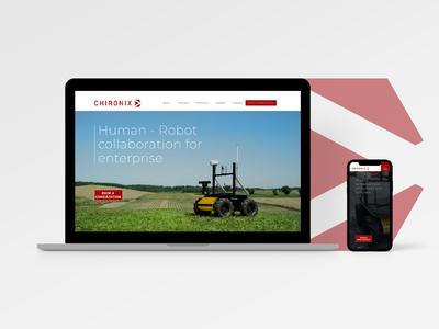 Chironix 2019 website robotics chironix web design ui branding design