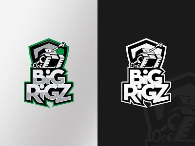 BiG RiGZ logo fps esports team logo vector design logo branding gamer logo