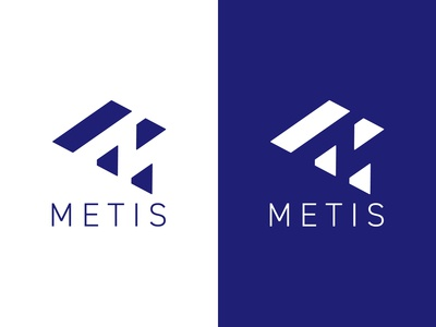 Metis Logo software negative space logo clean branding design