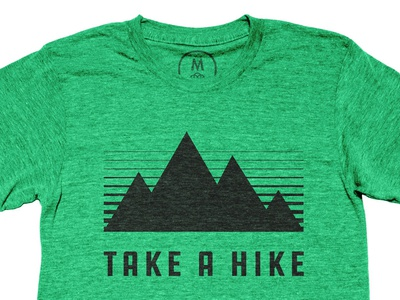 Take a hike hike sunset mountain shirt outdoors cotton bureau