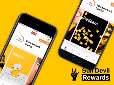 Sun Devil Rewards Redesign university mobile rewards app