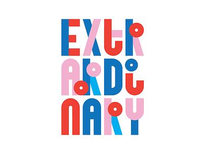 Extraordinary type design letters block letters extraordinary custom type type