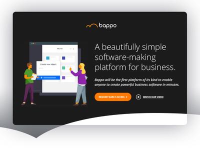 Bappo - Landing Page interface uiux mobile app mobile app color simple clean icon flat vector illustration