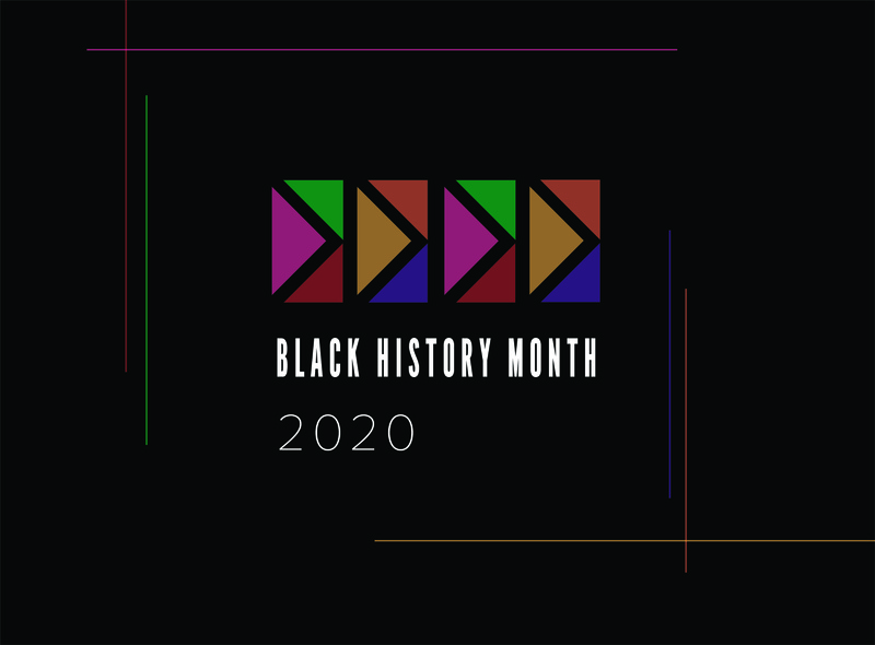 Black History Month 2020 women in science minimal black history month design visual design