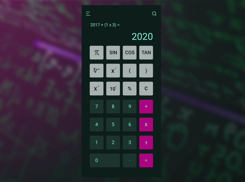 TI-30x Vibes Calculator ui dailyuichallenge calculator ui calculator visual design ui design uiux dailyui