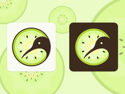 Kiwi App Icon illustrator patterns app icon icons logo vector illustration design visual design branding ui daily ui challenge daily ui new zealand kiwi