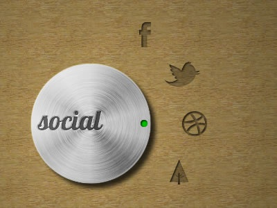 Social Button fireworks pixel forrst social metal twitter dribbble facebook vector wood