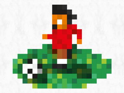 Pixel Soccer vector pixel illustrator sensible soccer