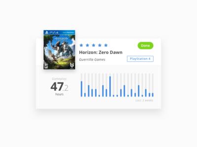 Game Card Design - Horizon: Zero Dawn sketch horizon zero dawn playstation games ui card