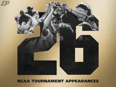Purdue WBB 26 NCAA Appearances
