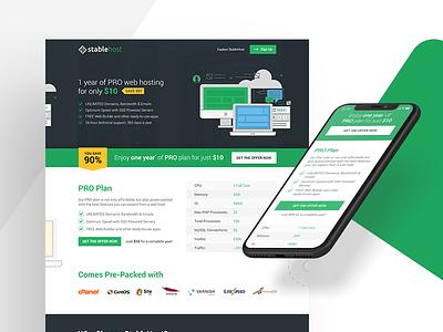 Stablehost Website Redesign user experience web hosting landing page cta marketing website responsive