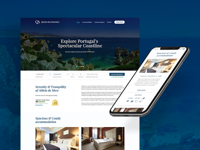 Website Design for a Hotel guest house lodge property vacation accommodation tourism design website hotel