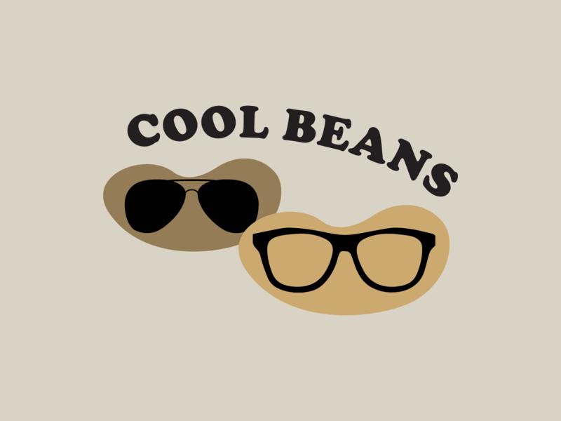 Cool Beans sunglasses kitsch illustration sticker cool beans
