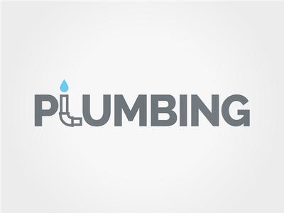 Plumbing logo concept logo typographic typography water pipe plumbing