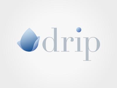 Drip logo design logo blue drop water drip