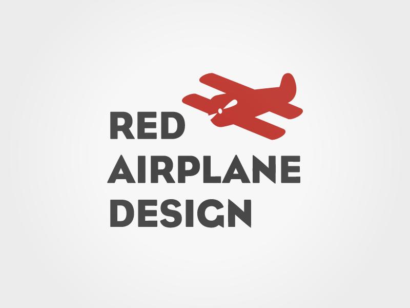 Red Airplane Design logo branding design firm red logo airplane
