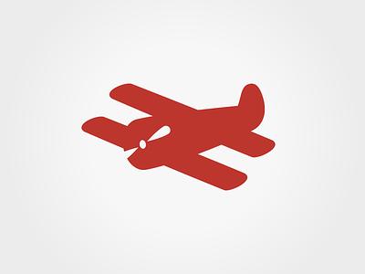 Red Airplane Design logo icon red branding logo gestalt airplane