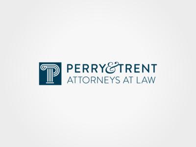 Perry & Trent logo lawyer attorney column logo