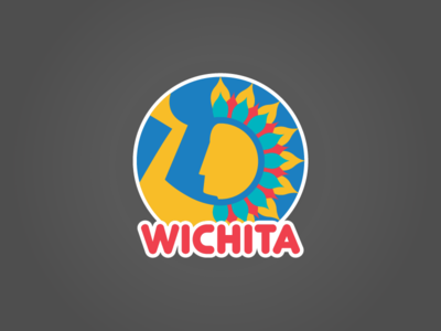 Wichita logo sunflower circle geometry geometric city branding city sculpture indian logo keeper of the plains wichita