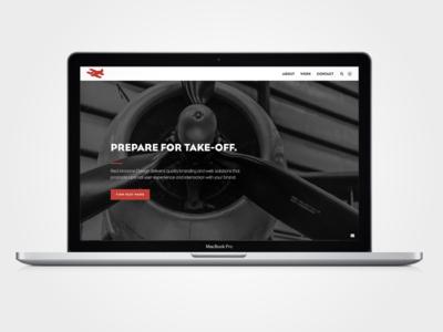 Red Airplane Design LLC website airplane red simple black and white ui ux wordpress web development web design branding design website