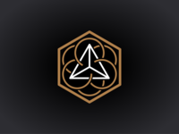 """Mystic"" 3 dimensional line logo"