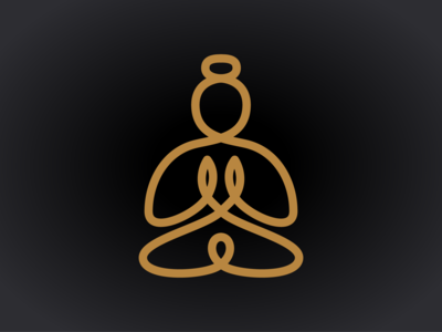 Buddha line drawing