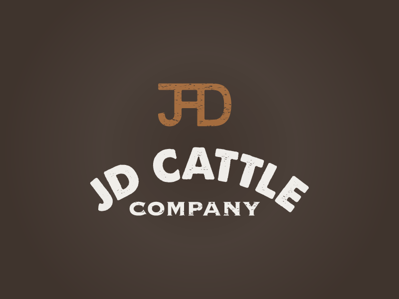 JD Cattle Company logo concept meat beef cattle cattle brand brand agriculture logo