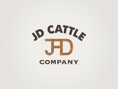 JD Cattle Company logo concept ca meat cattle brand brand distressed agriculture beef cattle cattle company