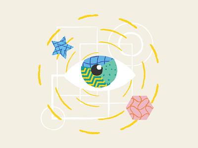 Illustration for Data Visualization Company in the Netherlands design brush patterns lines illustraion