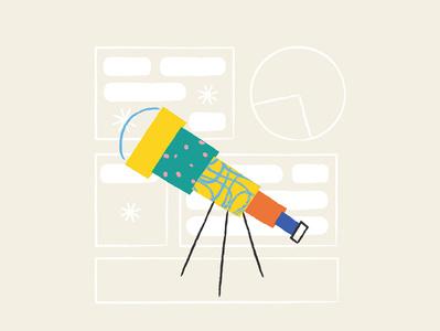 Illustration for Data Visualization Company in the Netherlands design brush illustration