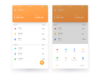Accounting user interface